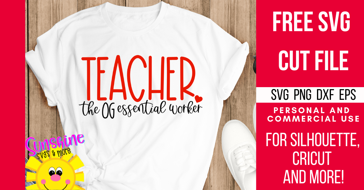 FREE SVG Cut File for TEACHERS